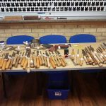 A good selection of pre-loved tools for sale.