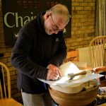Peter Tree demonstrated how to make Windsor Chairs.